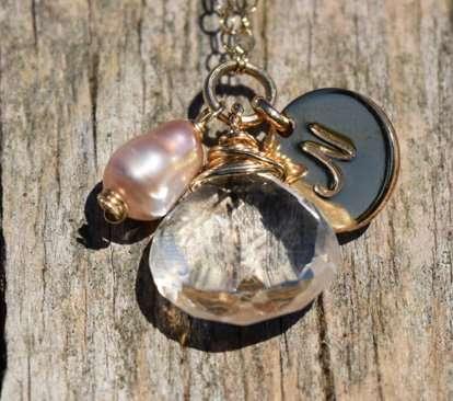 April Birthstone - Quartz - Gold filled - Brelox