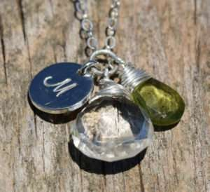 August Birthstone - Peridot - Sterling Silver - Brelox