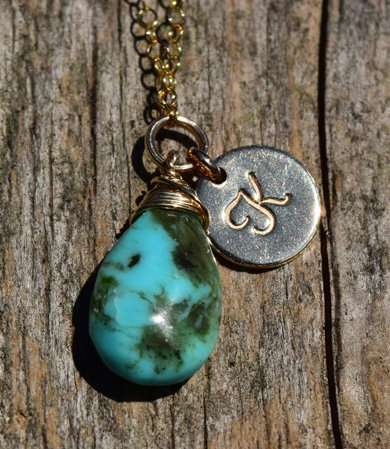 December Birthstone - Turquoise - Gold filled - Brelox