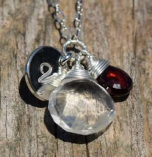 January Birthstone - Garnet - Sterling Silver - Brelox