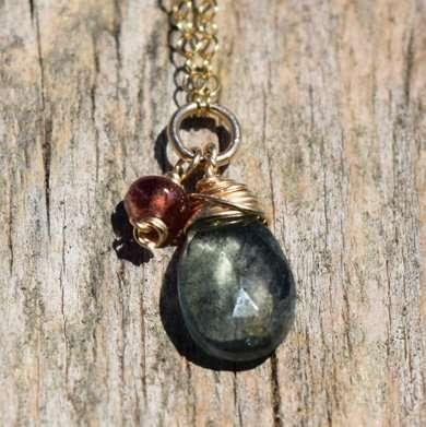 March Birthstone - Aquamarine - Gold filled - Brelox