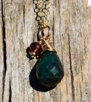 May Birthstone - Emerald - Gold filled - Brelox