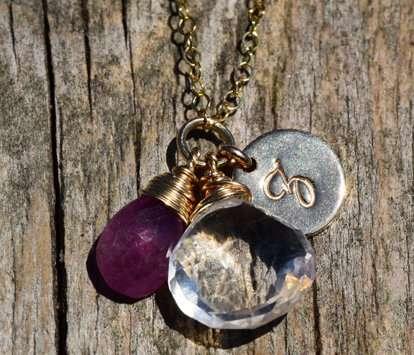 September Birthstone - Sapphire - Gold filled - Brelox