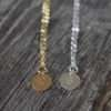 Charmed - Gold Personalized Charm Necklace - With Chain - Silver Accompany