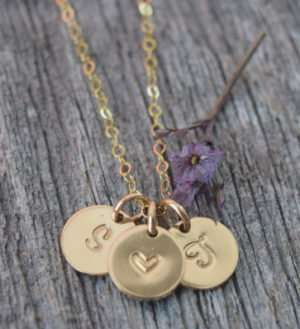 Simply in Love - Brelox Minimalist Three Charm Gold-Filled Necklace