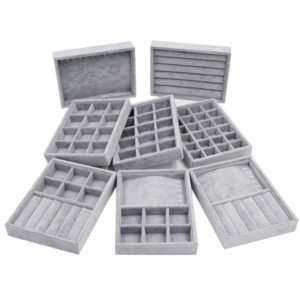A Jewelry case organizer used for storing jewelry collections.